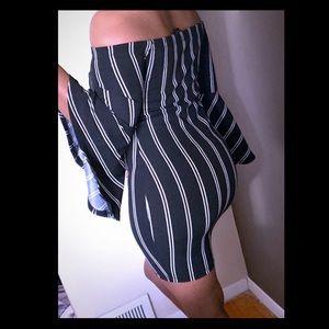 Dresses & Skirts - Black & White Striped Dress